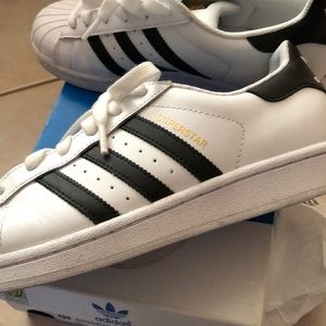 adidas Shoes - Adidas Superstar kids size 5 = women's 7